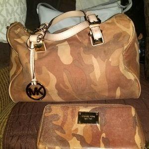 RARE Brown Camo Michael Kors VINTAGE BAG!!
